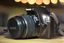 Câmera Canon Rebel T3 (EOS 1100D) excelente estado aceito troca