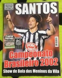 Pôster revista Talismã - Santos FC - Campeonato Brasileiro 2002