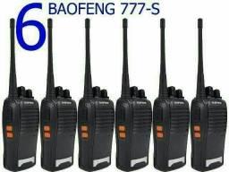 Kit Baofeng 6 Unidades de Rádios Comunicadores Walk Talk Bf-777s<br>