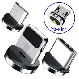 Ponteira-Plug Magnético Para Cabo Carregador IOS ou V8 ou TIPO-C.