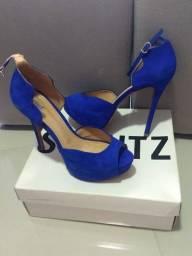 Sandália Schutz - Nobuck Azul