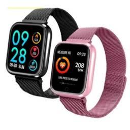 Smartwatch Relógio P70 Inteligente Homens Mulheres Ios E Android - Troca Pulseira