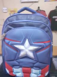 Mochila Escolar Infantil Xeryus Marvel Capitão América - Azul