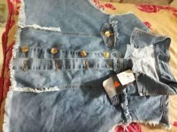 Colete jeans Santa Pimenta