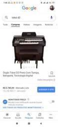 Órgão Tokai dual Voice preto fosco