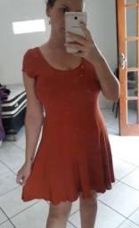 Vestido de malha canelada ,tam. M Dress to