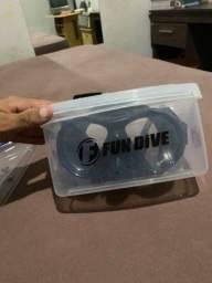 Respirador Snorkel Frontal Para Treinamento Natação Fun Dive+máscara de mergulho