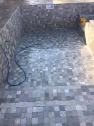Revestimento Para Piscina Pedra Acqua Verde Natural 10x10cm Quartzito Promoção DoMeuGosto