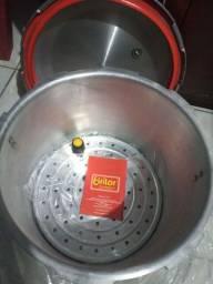 Panela de pressão 22 litros e rechaud Retangular banho maria