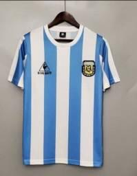 Camisa Original da seleção Argentina, MODELO RETRÔ.