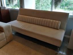 Sofá cama rack e ar condicionado portátil