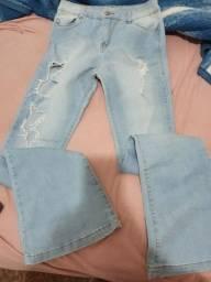 Calça jeans flaire número 40