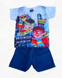 Conjunto bebê camisa com short