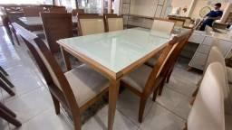 Mesa de madeira madeira 6 lugares