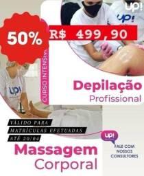 Curso - Massagem Corporal e Depilação Profissional