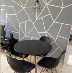 Jogo de mesas + cadeiras