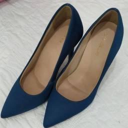 Scarpin azul marinho
