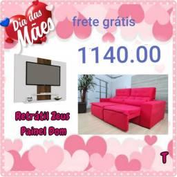 Kit sala mega oferta com sofas retratil