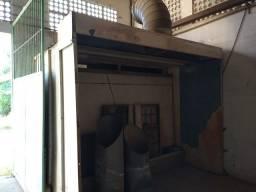 Cabine de Pintura com exaustor e cortina d'água