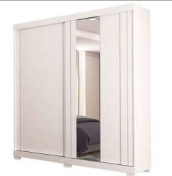 Guarda Roupa branco com Espelho