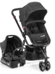 Carrinho bebê 3 rodas Safety 1st semi novo com bebê conforto