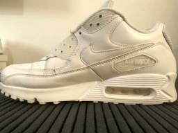 Nike Air Max 90 Leather Marathon Running Shoes/Sneakers Branco - Pouco usado