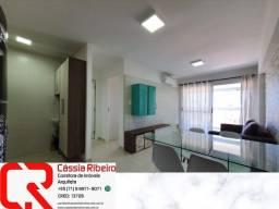 Apartamento à venda 1 quarto em 45 m² na Pituba. Mobiliado, Nascente e Vista Mar. 1 vaga<br><br>
