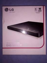 Gravador Dvd e Cd externo. Usb Ultra Slim LG Portatil. (Novo)