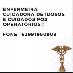 Enfermeira cuidados geriátricos e pós operatório