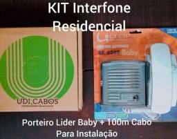 Porteiro Lider Baby LR 520s KIT NOVO Interfone