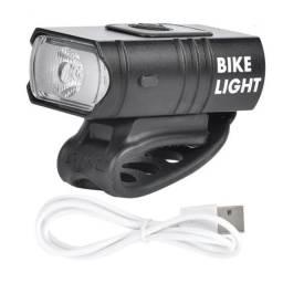 Farol ciclista com indicador de bateria