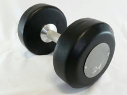 kit dumbell monobloco texturizado 12 a 30 kg