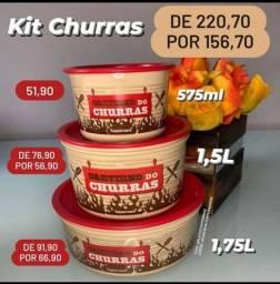 Kit churrasco Tupperware