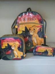 Kit mochila escolar Pacific Rei Leão
