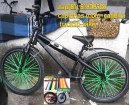 capas raio verde bicicleta