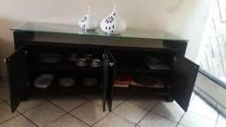 Móvel buffet para sala de jantar Sier suprima 1.73 12 M em madeira mogno marrom tabaco