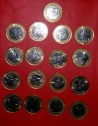 Coleção olímpica 17 moedas