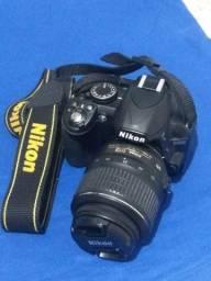 Câmera Nikon D3100 ( pouco uso )