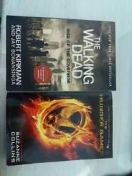Livros Hunger Games e The Walking Dead