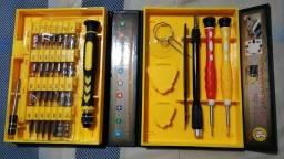 08 Kits Ferramentas 38 peças p/ reparo celular, tablet e notebook