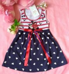 Vestido Infantil Pequena Marinheira