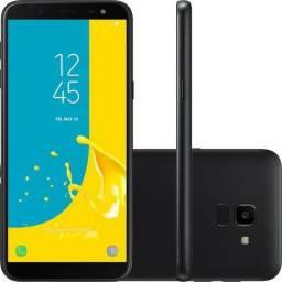 "Galaxy J6 32gb Preto, Tela Infinita 5.6""! Android 8, NF e Garantia"