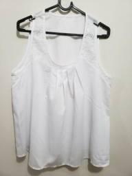 Camiseta Regata Branca Casinha Abelha