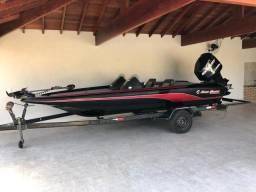 Bass boat - lancha - barco - troco por jet Ski - lancha de passeio - 2015