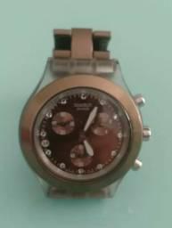 75ae150aeb5 Relógio Swatch Diaphane Chocolate ( marrom )