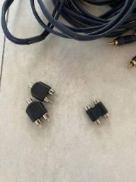 Conectores bifurcadores y RCA - novos!