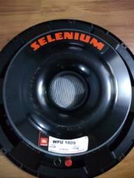 Auto falante de 18, novo, subwoofer JBL selenium wpu 1809 450w