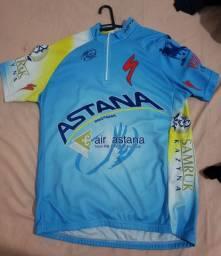 Camisa ciclismo Astana tamanho G