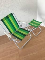 Cadeira e Banco de Praia