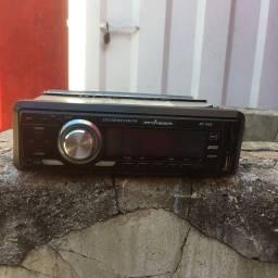 Rádio para carro com entrada de cartão de memória e USB